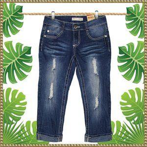 NWT No Boundaries Junior Distressed Capri Jeans 3